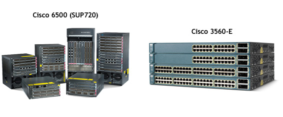 Cisco 6500 routers used in the internal network of the USA data center