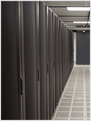 Server rack in USA data center