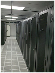 Servers in rack in the USA data center